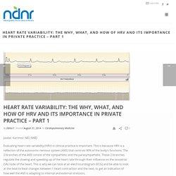 Heart Rate Variability: The Why, What, and How of HRV and Its Importance in Private Practice – Part 1 – Naturopathic Doctor News and Review