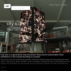 Siemens City Icon // data driven art and generative design