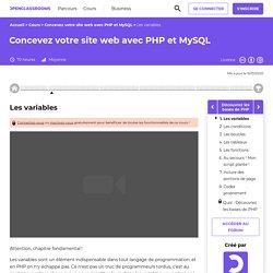 Les variables - Concevez votre site web avec PHP et MySQL