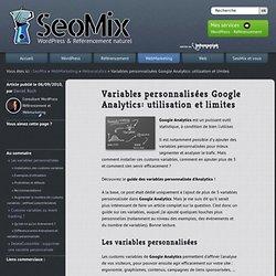 Variables personnalisées Google Analytics