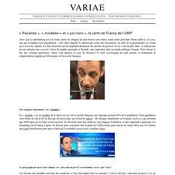 Racailles », « minables » et « pov'cons », la carte de France de l'UMP