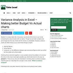 Variance Analysis in Excel - Making better Budget Vs Actual charts - PakAccountants.com