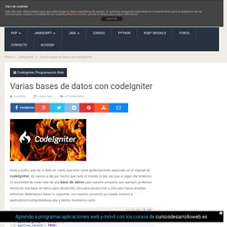 Varias bases de datos con codeIgniter - Uno de piera