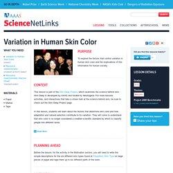 Variation in Human Skin Color