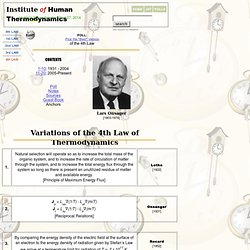 IoHT :: 15+ Variations of the Fourth Law of Thermodynamics