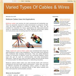 Varied Types Of Cables & Wires : Multicore Cables Uses And Applications