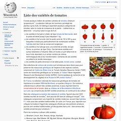 Liste des variétés de tomates