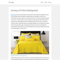 Variety of Online Bedspread
