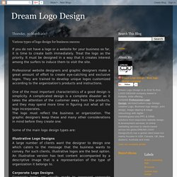 Dream Logo Design: Various types of logo design for business success