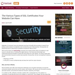 The Various Types of SSL Certificates Your Website Can Have