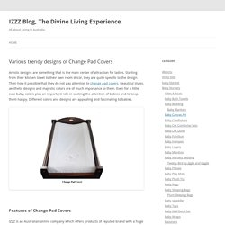 Various trendy designs of Change Pad Covers - IZZZ Blog, The Divine Living Experience