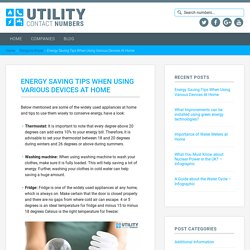 Energy Saving Tips When Using Various Devices At Home