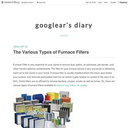 The Various Types of Furnace Filters - googlear's diary