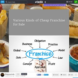 Various Kinds of Cheap Franchise for Sale