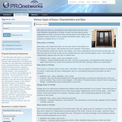 Various Types of Doors: Characteristics and Style