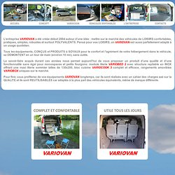 VARIOVAN : AMENAGEMENT DE FOURGONS NEUFS OU OCCASIONS