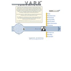 VARK -- A Guide to Learning Styles