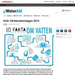 Inför Världsvattendagen 2014 - WaterAid