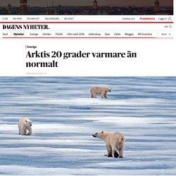 Värmerekord i Arktis: 20 grader varmare än normalt