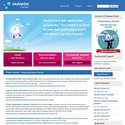 Varnish Community | Varnish makes websites fly!