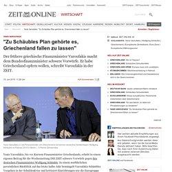 """Yanis Varoufakis: """"Zu Schäubles Plan gehörte es, Griechenland fallen zu lassen"""""""
