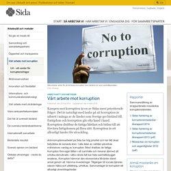Vårt arbete mot korruption - Sida