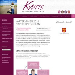 Vårterminen 2016 Naverlönnskolan