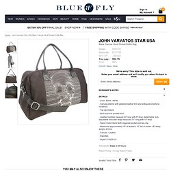 John Varvatos Star USA black canvas skull printed duffle bag