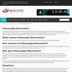 Vasculitis Foundation » Polymyalgia Rheumatica