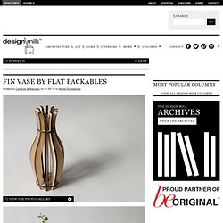 Fin Vase By Flat Packables