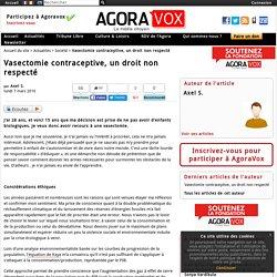 Vasectomie contraceptive, un droit non respecté