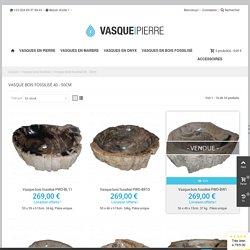 Lavabo bois pétrifié M - Vasque Pierre