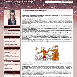 Les relations féodo-vassaliques - L'Histoire-Géographie au Collège