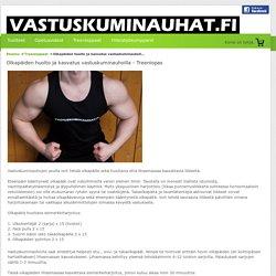 Olkapäiden huolto ja kasvatus vastuskuminauhoilla - Vastuskuminauhat.fi