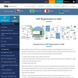 How to register for VAT in UAE