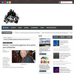 Vatican : Le premier jugement d'un prêtre pour pédophilie - La pause Solid-R