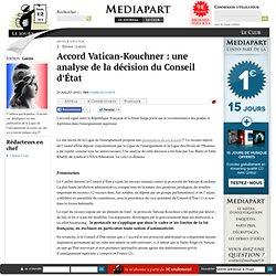 Accord Vatican-Kouchner : une analyse de la décision du Conseil d'État