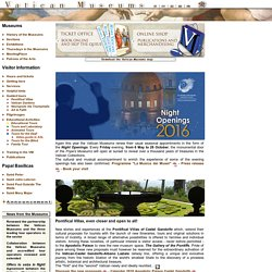 Vatican Museums - Official web site