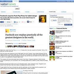 Facebook acquires Push Pop Press for tablet design