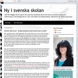 Ny i svenska skolan: Vattnets olika former - språkutvecklande arbete med ett känt innehåll