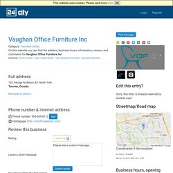 Vaughan Office Furniture Inc, Toronto, Canada