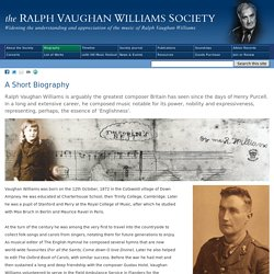 Ralph Vaughan Williams Biography