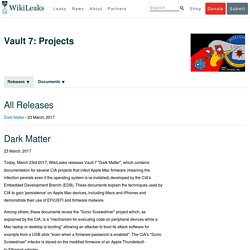 Vault 7: Projects