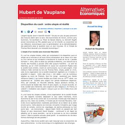Hubert de Vauplane » Blog Archive » Disparition du cash : entre utopie et réalité