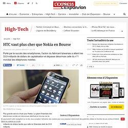 HTC vaut plus cher que Nokia en Bourse