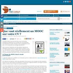 Que vaut réellement un MOOC sur votre CV ?