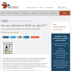Que vaut réellement un MOOC sur votre CV ? - Thot Cursus