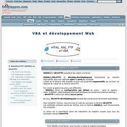 VBA et développement Web