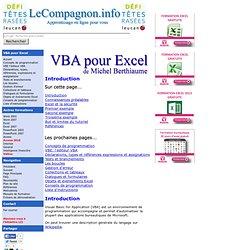 VBA pour Excel - Introduction