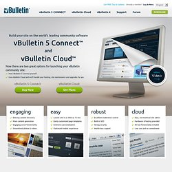 Purchase vBulletin, the most powerful forum software available.